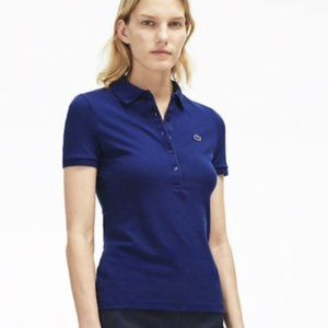 LaCoste Haymaker 36 Polo Shirt Blue 5 Button S